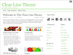 Clear Line Theme WordPress