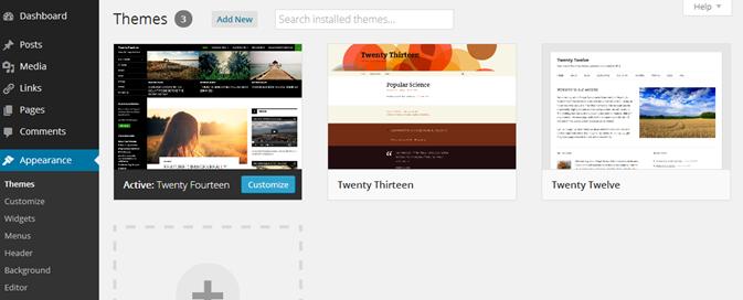 wordpress blog bouwen themes