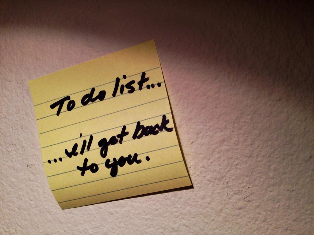 to do lijsten achtervolgen