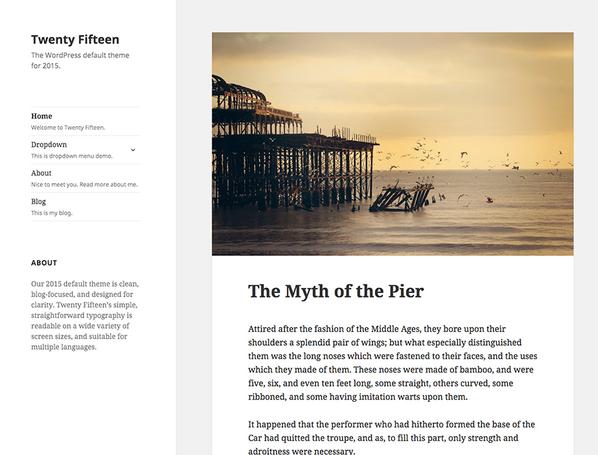 Simpele WordPress site bouwen Twenty Fifteen