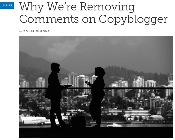 reacties op blog copyblogger