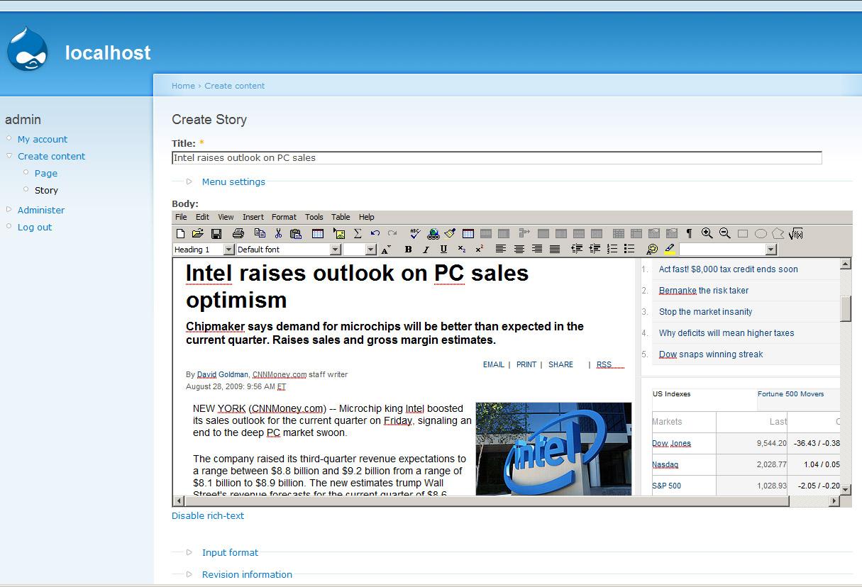 programma's voor websites blogs drupal