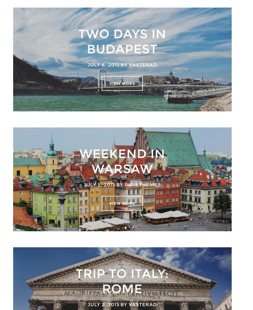 Een WordPress template voor een reisblog