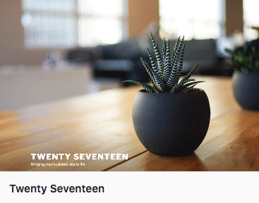 WordPress twenty seventeen thema