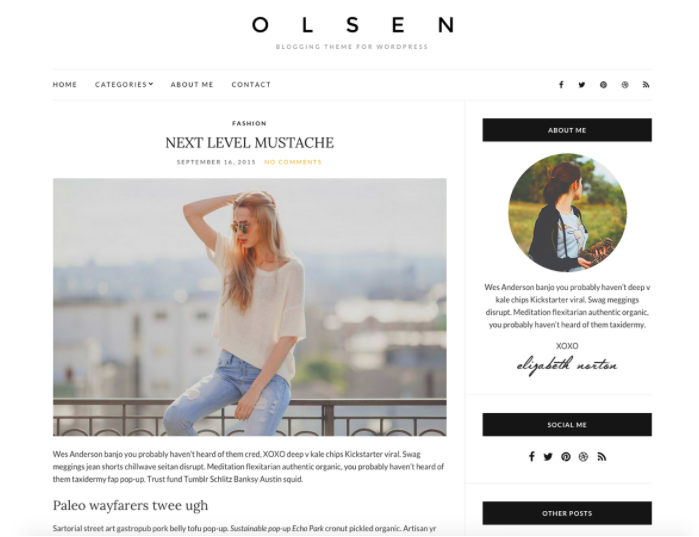 Olsen thema WordPress
