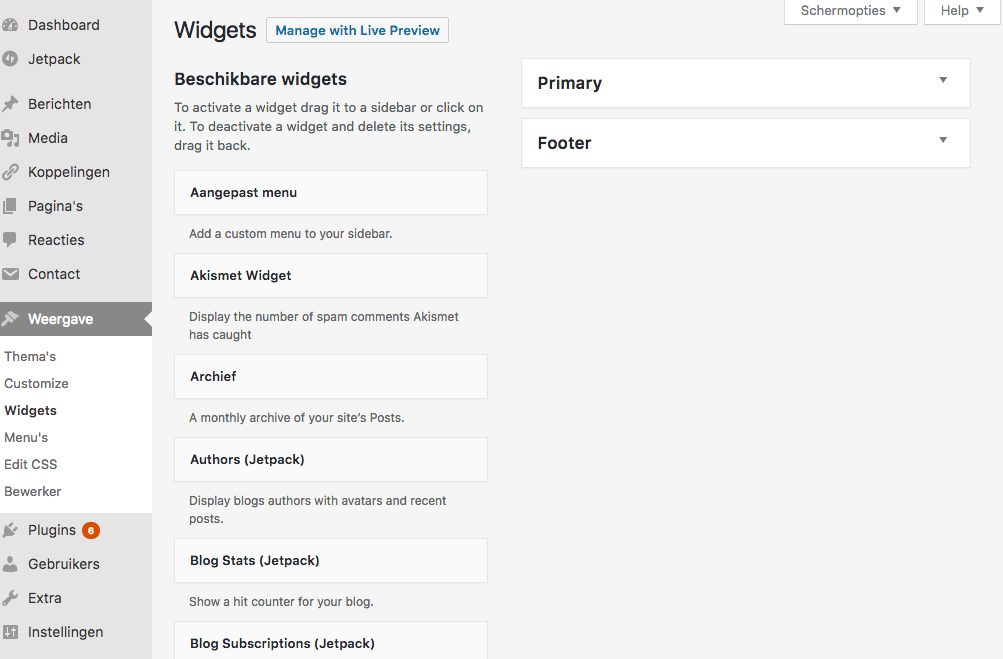 Wordpress sidebar